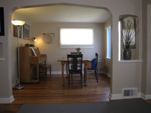 """We used the """"living room"""" as our dining room because it fit better."""
